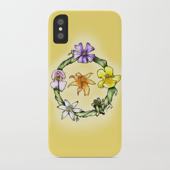 Garland of flowers iPhone Case