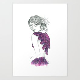 Like a Bird Without Wings Art Print