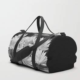 Water Lily in Black and White Duffle Bag