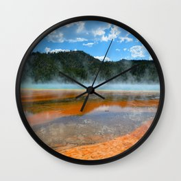 Grand Prismatic Pool - Yellowstone National Park, Wyoming Wall Clock