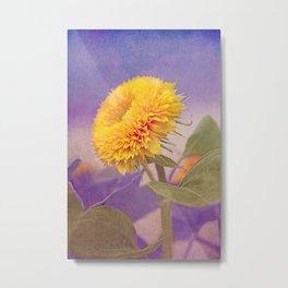 Vintage sunflower Metal Print