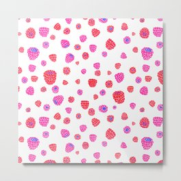 Fruit of the Day: Raspberry Metal Print