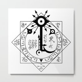 Invisible Sun Symbol on White Metal Print