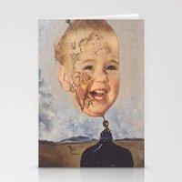salvador dali Stationery Cards featuring Salvador Dali by Raven Ellis