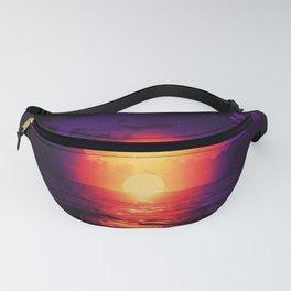 Fire purple cloud by #Bizzartino Fanny Pack
