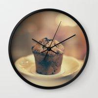 cupcake Wall Clocks featuring Cupcake  by Caroline Mint
