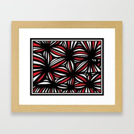 Marien Abstract Expression Red White Black Framed Art Print