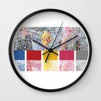 klaine Wall Clocks featuring Celebrate Color by Jen K