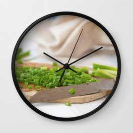 #Country #house #love #fresh #spring #onions Wall Clock