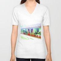 colombia V-neck T-shirts featuring Colombia Coffee Park. by Alejandra Triana Muñoz (Alejandra Sweet
