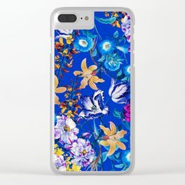 Surreal Floral Clear iPhone Case