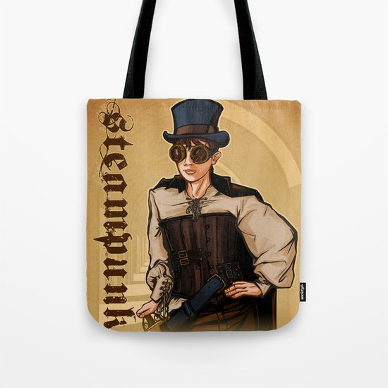 Steampunk Lady Tote Bag