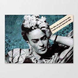 Tribute to Frida Kahlo #26 Canvas Print