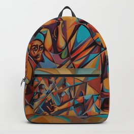 oil painting colorful cubism art style  Backpack