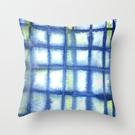 Plaid Watercolor Throw Pillow