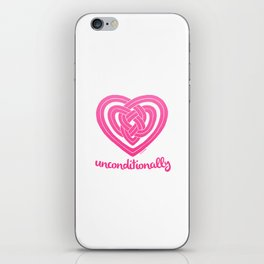 UNCONDITIONALLY in pink iPhone Skin