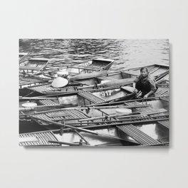 Vietnamese Boats Fine Art Print Metal Print