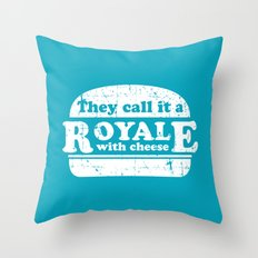 Pulp Fiction - royale with cheese Throw Pillow