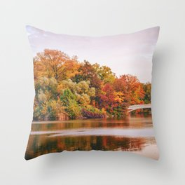 Autumn Colors Are the Best Colors - New York City Throw Pillow