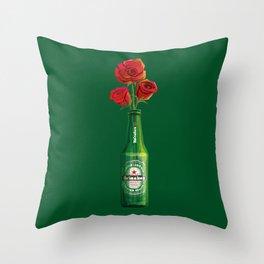 Dudes Love Roses (Green) Throw Pillow