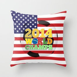 2014 World Champs Ball - USA Throw Pillow