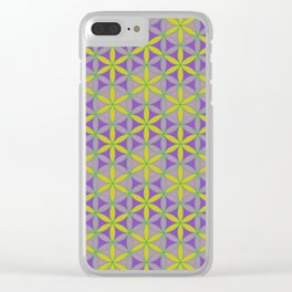 Flower of Life Pattern 2 Clear iPhone Case