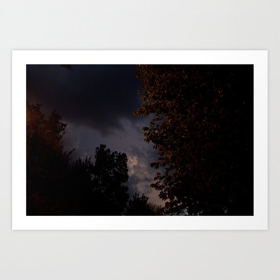 storm in the west. Art Print