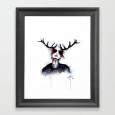 Antlers // Fashion Illustration Framed Art Print