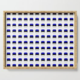 Flag of estonia 5 with soft square Serving Tray