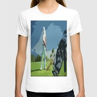 golf T-shirts featuring GOLF by aztosaha