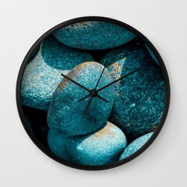 Wisdom   Musical Crime Productions   Turquoise River Stones   Close up photography Wall Clock