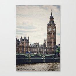 Big Ben Across the River Thames Canvas Print