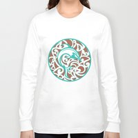 maori Long Sleeve T-shirts featuring Maori Dolphin by freebornline