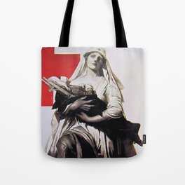Red Cross wartime. Tote Bag
