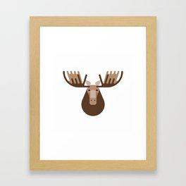 Minimalistic wildlife 16 – Elk Framed Art Print