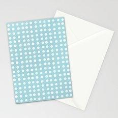 Blue Polka Pattern Stationery Cards