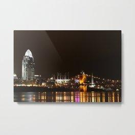 Cincinnati Roebling Bridge Metal Print