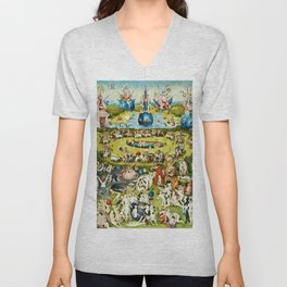 Hieronymus Bosch - The Garden Of Earthly Delights Unisex V-Neck