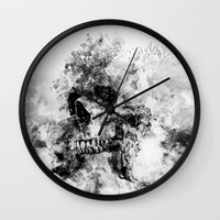 silent hill Wall Clocks featuring Silent Hill by RIZA PEKER