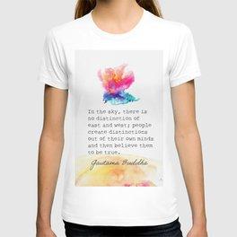 Gautama Buddha In the sky quote T-shirt