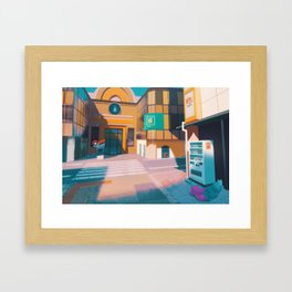 Cerulean Gym - Kanto in real life Framed Art Print