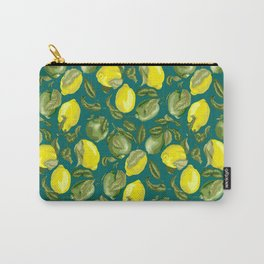 Limes and Lemons inside vintage pattern Carry-All Pouch