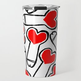 Heart Pattern Travel Mug