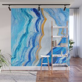Blue and gold agate Wall Mural