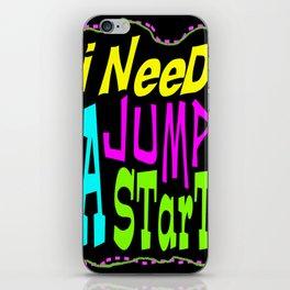 Jump Start iPhone Skin