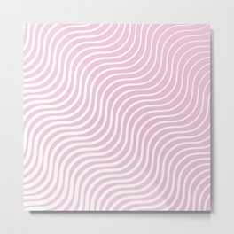 Whiskers Light Pink & White #308 Metal Print