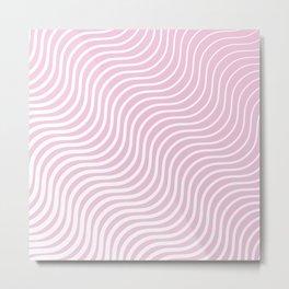 Whisker Pattern - Light Pink & White #308 Metal Print