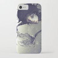 edward scissorhands iPhone & iPod Cases featuring Edward Scissorhands by Antonio Lorente