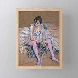 Dancer in Pink Tights Framed Mini Art Print