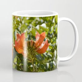"""Flaming-red Peacock (ii)"" by ICA PAVON Coffee Mug"
